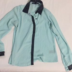 Button up collar blouse